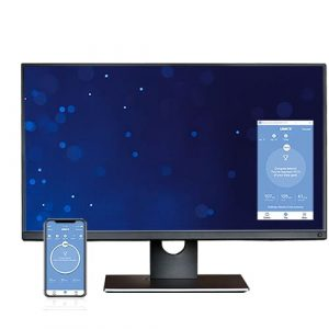 win desk with phone